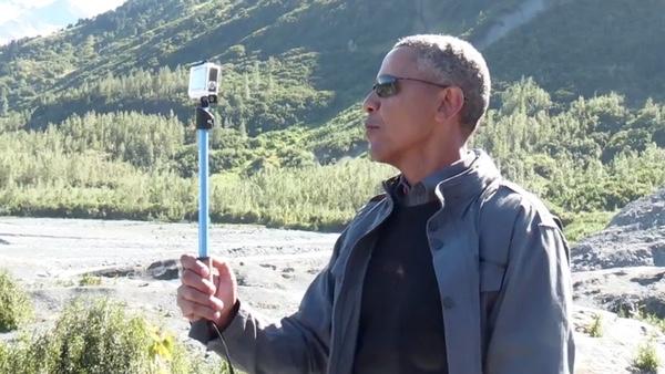 Obama Alaska Selfie Stick