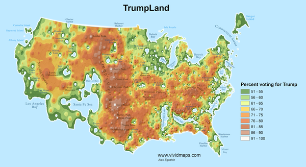 Trump 2016 map